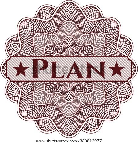 Plan money style rosette