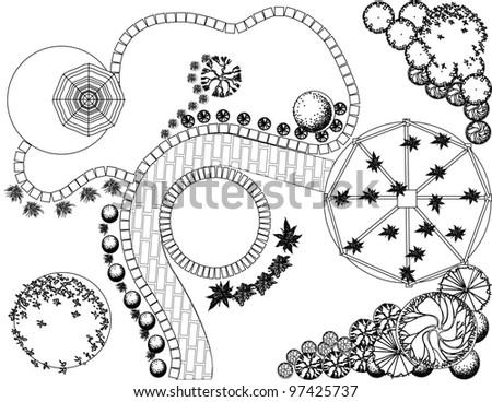 garden plan vector