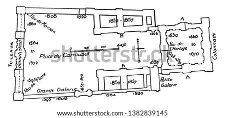 plan of louvre and tuileries