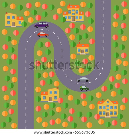 plan of village landscape with
