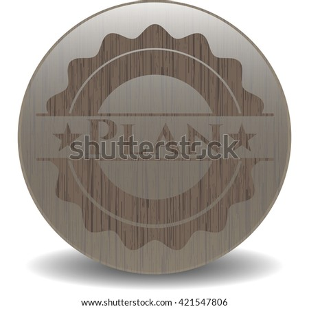 Plan retro wood emblem