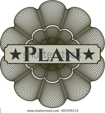 Plan rosette (money style emplem)