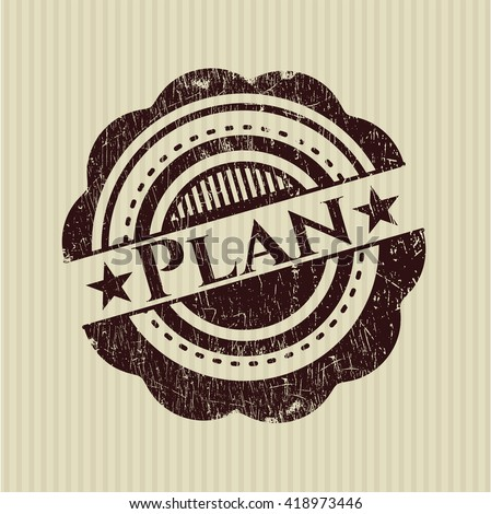 Plan rubber grunge stamp