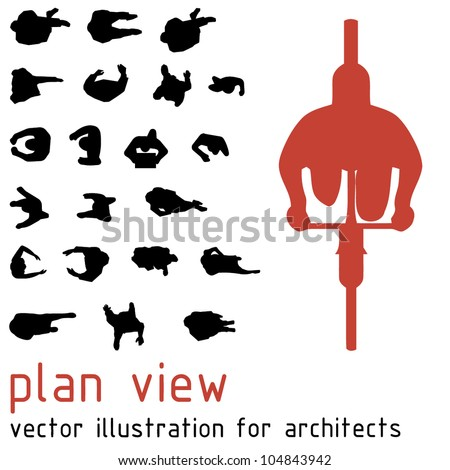 plan view silhouettes for