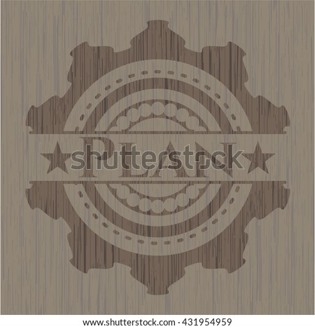 Plan wood emblem. Vintage.