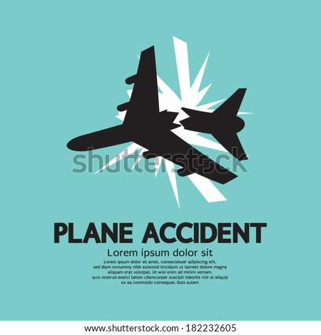 plane accident vector