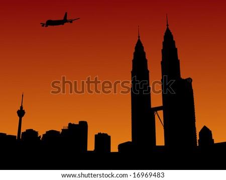 plane arriving in kuala lumpur