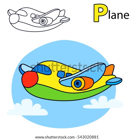 plane coloring book page