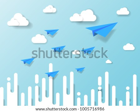 plane flying on blue sky with