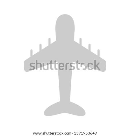 plane icon - Airplane Icon Flight Symbol Airport Flat Design