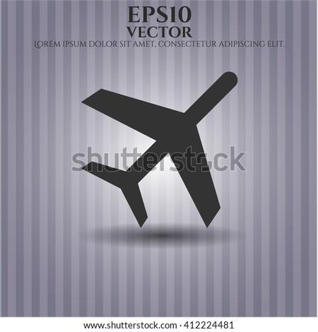 Plane icon vector illustration