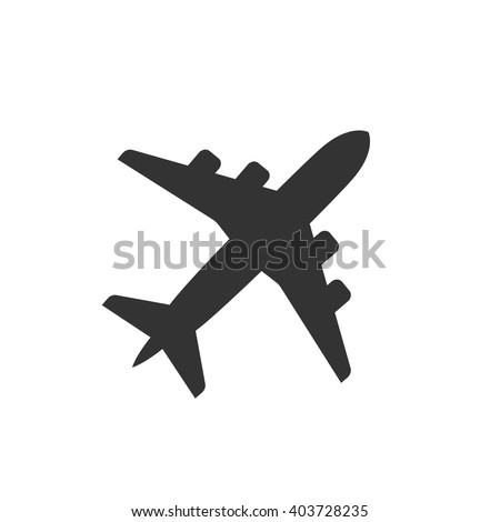 Plane icon vector, solid illustration, pictogram isolated on white