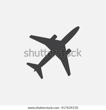 Plane icon vector, solid logo illustration, pictogram isolated on white