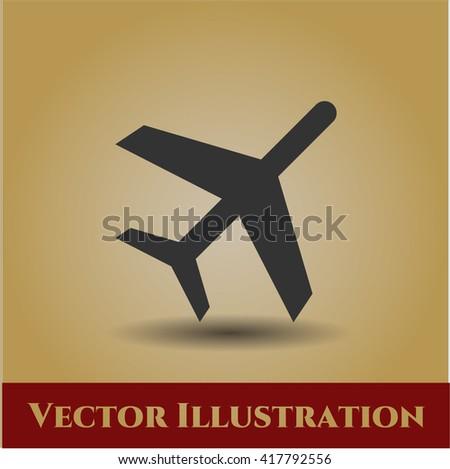 plane icon vector symbol flat eps jpg app web concept website