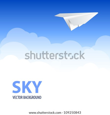 plane in clouds sky background