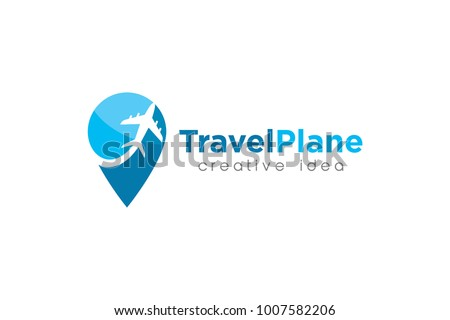 plane logo and icon template