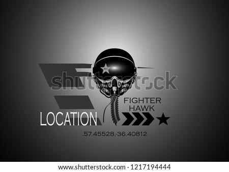 plane pilot in oxygen mask