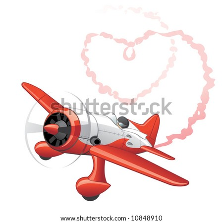 Plane sending love message