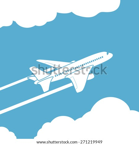 plane silhouette against the