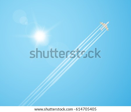 plane silhouette flying