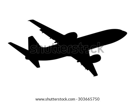 stock-vector-plane-silhouette-on-a-white-background-vector-illustration