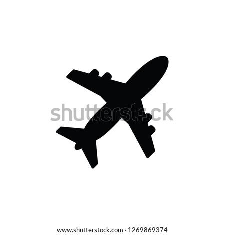 plane simple icon on white background Stock fotó ©