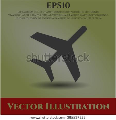 Plane vector icon or symbol