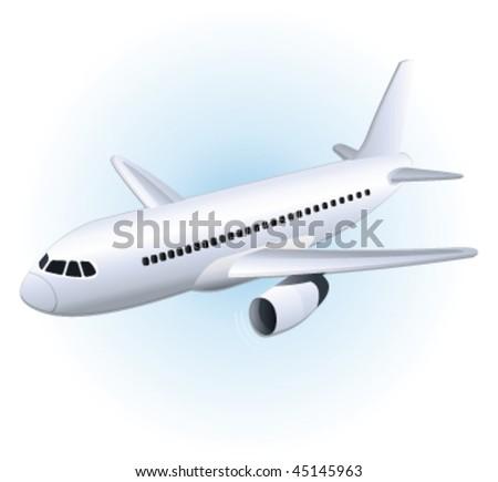Plane. Vector illustration.