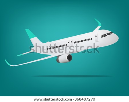 Plane vector,Plane on the background,concept of plane,vector illustration.