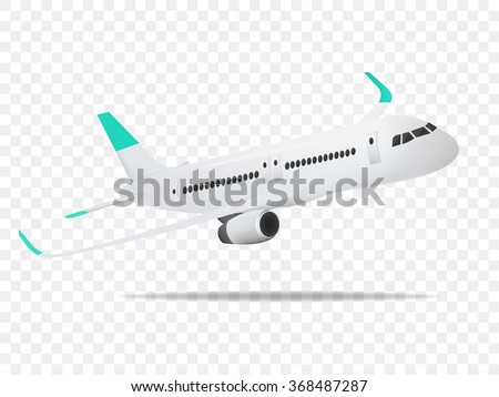 Plane vector,Plane on the transparent background,concept of plane,vector illustration.