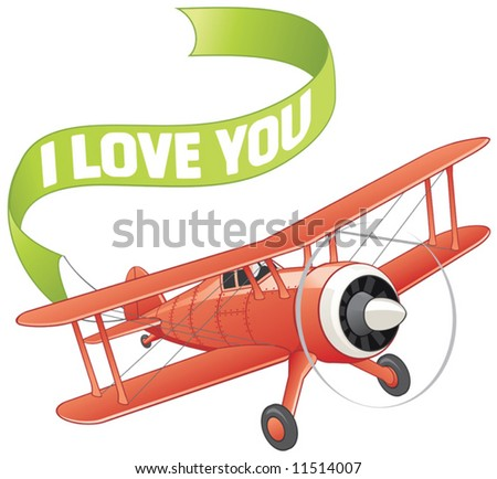 Plane with love banner