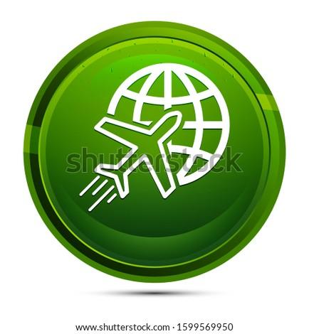 plane world icon isolated on