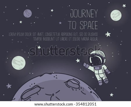 planet and astronaut floating