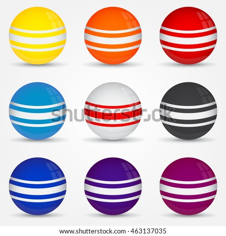 planet balls decoration on