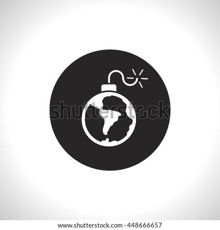 planet bomb vector illustration
