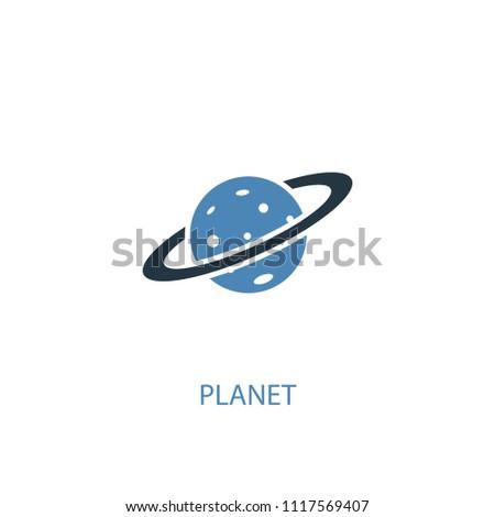 planet concept 2 colored icon