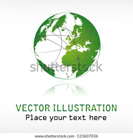 Planet connections network design, internet network. Connections planet for your business artwork isolated on white background - Modern Vector illustration, graphic design. Logo Symbol