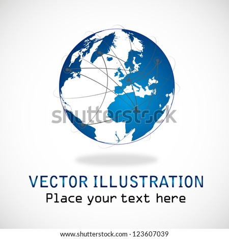 Planet connections network design, internet network. Connections planet for your business artwork isolated on white background - Modern Vector illustration graphic design. Logo Symbol