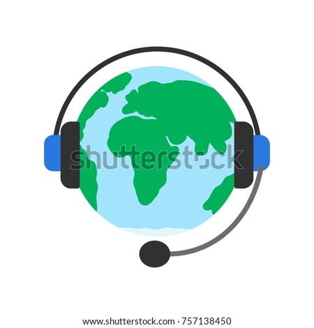 planet earth and headphones