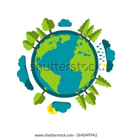 planet earth cartoon style with