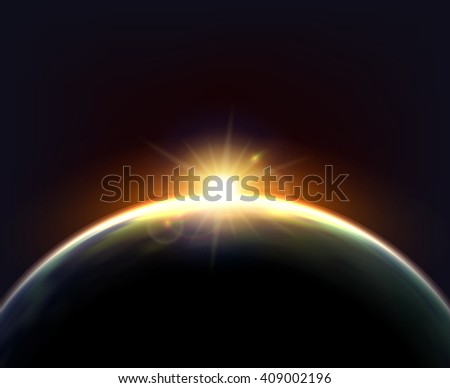 planet earth cosmic night view