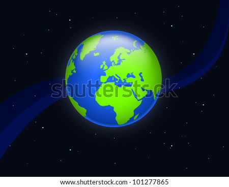 planet earth, europe, africa, asia