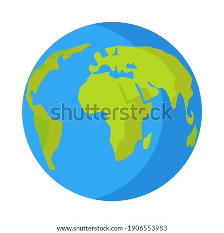Planet earth for decoration design. Global map. World health day. Earth day. Planet Earth.