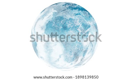 planet earth frozen cold blue