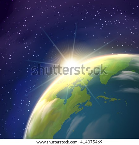 planet earth globe  pace view