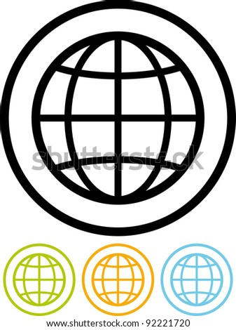 Planet Earth globe - Vector icon isolated on white
