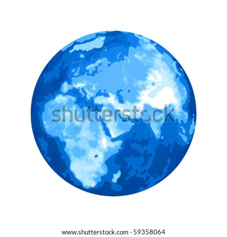 Planet Earth in blue color