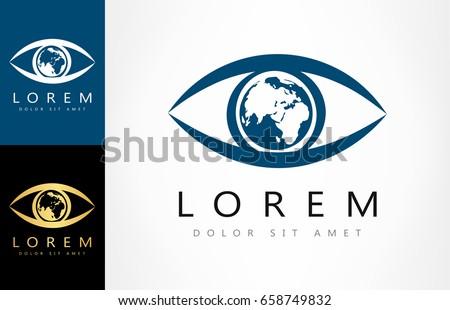 planet earth in the eye logo