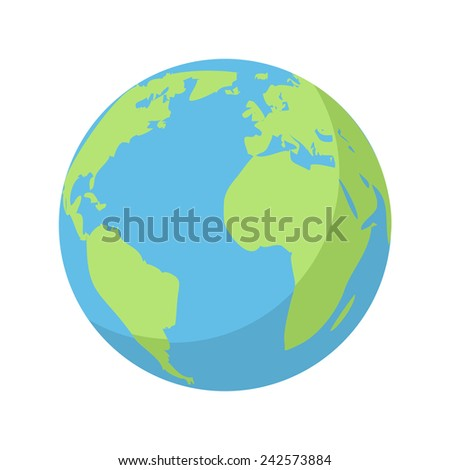planet earth  modern flat icon