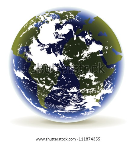 Planet Earth on a white background